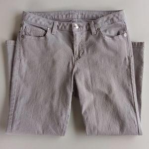 🆕 Michael Kors Gray Capri Jeans Cropped Size 4